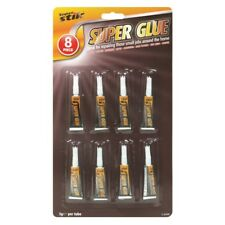 8 Pack Super Glue 3g Extra Strong Plastic Glass Wood Rubber Metal Adhesive Bond
