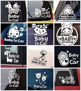 *UK SHOP* Baby on Board / in Van Car Windscreen Body Panel Bumper Sign Sticker