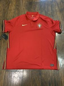 Nike Portugal Home Soccer Jersey 2020/21 NEW XXL Red Men's CD0704-687