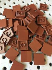 Lego Brown Flat Tile 2x2 Tiles Smooth Finishing MODULAR BUILDINGS Floor 50