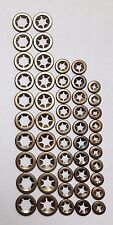 Star Push On Lock Retaining Washers For Metric Round Shafts 10 X 3 4,5,6 & 8mm