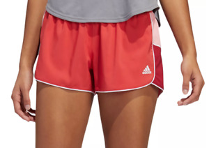 Adidas Shorts Womens XS Authentic AeroReady Pacer 3 Inch Training Glory Red