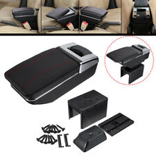 Universal Car Console Armrest Storage Adjustable Cup Box Holder Ashtray USB UK