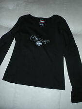 Small Harley-Davidson black  long sleeved top Chicago, Illinois with rhinestones