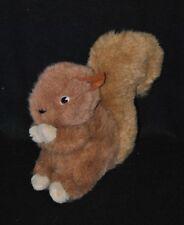 Peluche doudou écureuil IKEA brun marron caramel beige 18 cm TTBE