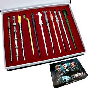 11pcs Harry Potter Hermione Dumbledore Sirius Voldemort Fleur Magic Wands w/Box