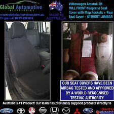 Volkswagen Amarok 2H Front and Rear Neoprene Car Seat Covers - WITHOUT LUMBAR