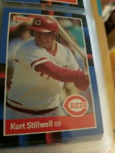 Kurt Stillwell Cincinnati Reds Donruss 88 Leaf Cards Ungraded