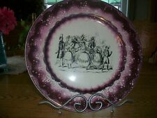VINTAGE GRAY POTTERY STOKE-ON-TRENT DECOR PLATE