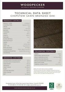 Chepstow Sawn Bronzed Oak Flooring by Woodpecker 2.11m2 *Clearance £40 per m2*
