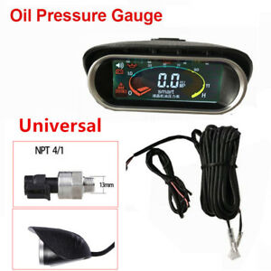 Auto Car Truck Engine Oil Pressure Gauge Meter Monitor w/ 3M Cable Universal Kit