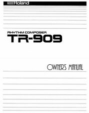 Roland TR-909 Rhythm Composer OWNER'S MANUAL