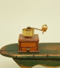 Vintage Antique Coffee Grinder Artisan Dollhouse Miniature 1:12