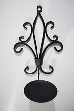 Antique Foldable Metal Candle Holder Wall Hanger Sconce Set of 2