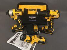 DEWALT 20V MAX Cordless Brushless Drill/Driver/Light Combo Kit (3-Tool) DCK377C2