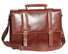 Leather Medium Bags for Men with Laptop Sleeve/Protection