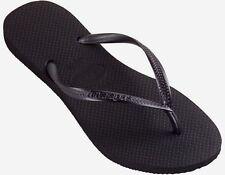 Havaianas   Flip-Flops -Thongs - Slim Black  Sandals Womens  9/10