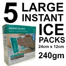 5 LARGE Instant Ice Pack Squeeze & Shake First Aid 240gm (12cm x 24cm)