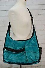 Thirty-One Explorista Teal & Black Tote Diaper Gym Bag Adjustable Crossbody Hobo