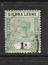 SIERRA LEONE  1896-97   1/-    QV   FU  SG 50