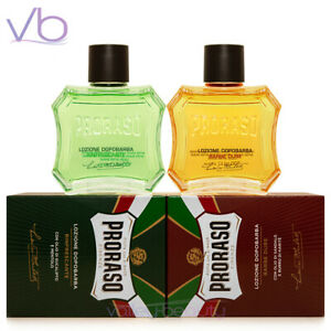 PRORASO (Green, Red, After Shave, Sandalwood, Eucalyptus, Lotion, 100ml)