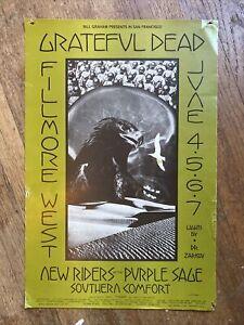 GRATEFUL DEAD New Riders Original BILL GRAHAM FILLMORE West POSTER BG 237 1970