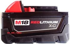 (1) NEW GENUINE 18V Milwaukee 48-11-1828 3.0 AH Battery M18 18 Volt XC 3.0 Red