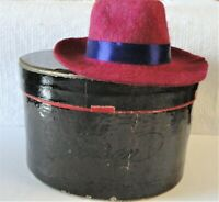 Antique Sample Stetson Hat (name inside) on each side With Original Box w/Stetso