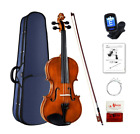 Violin 4/4 Full Size With Case Bow Rosin and Tuner for Beginner Student