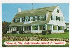 Home of Senator Robert Kennedy Cap Cod USA Old Postcard 435a