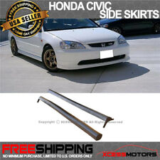 Fits 01-05 Honda Civic 2 4Dr RS-Style Side Skirts Skirt Polypropylene