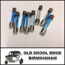 CLASSIC CAR MIXED GLASS FUSE SET OF 8 (2x 5 15 20 35 amp) MINI MG JAG ROVER AB9