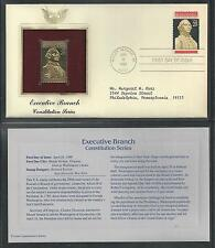 # 2414 EXECUTIVE BRANCH, Constitution Series 1989 Gold Foil Cover (Addressed)