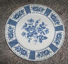 3 Myott Fine Ironstone 1982 Melody Blue Floral Scalloped Edge Dinner Plates