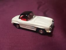 Vintage Aurora Slot Car Mercedes Benz White Black Hard Top