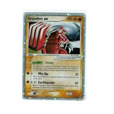 GROUDON EX 038 Ultra Rare Star Holo Foil Pokemon Card!