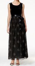 Patra New Velvet Dot-Print Gown Size 16 MSRP $219 #HN 465