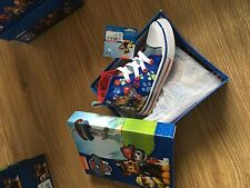 Paw patrol canvas boot/ shoes / High Top boys size 4 licensed official uk stock