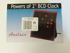 Powers of 2 BCD clock clock Anelace NIP