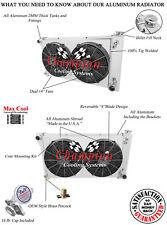 "2 Row Perf Radiator 28"" Core, 14"" Fans, Shroud for 1967 - 1972 GMC Jimmy V8 Eng"