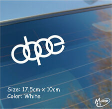 Dope Universal any Audi Decal Stickers  vinyl decal RS Car Window Best Gifts
