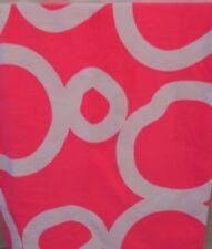 PINK WHITE GEOMETRIC CIRCLES FLEECE THROW BLANKET SWEATSHIRT BLANKET 50x70