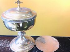 Vintage Sterling Silver/GP Ciborium/Chalice w/ Paten- Communion. BUY NOW!!