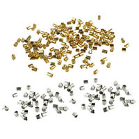 Mix Silver/Gold Plated Tube Crimp Beads for Jewelry Making(About 1000pcs) O7P4