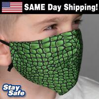 LIZARD Child Face Mask – Washable Face Mask w/Filter Pocket – 90+ Custom Designs