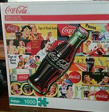 "Coca Cola 1000 piece jigsaw puzzle by Buffalo ""ALWAYS COCA-COLA"" COKE soda NEW"
