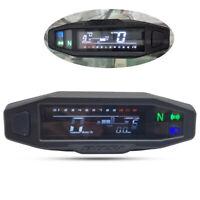 12V Motorrad Digital LCD Tachometer Kilometerzähler RPM KMH Tacho Odometer DE