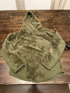 Nike Sherpa Thermal Hoodie, Olive Green/Black, Brand New, Women's Size Small