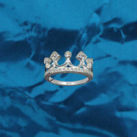 Ring Crown Exclusieve Real 925 Sterling Zilver Cubic Zirconia Rhinestone NL