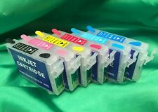 Epson Compatible for 1430 (set of 6) REFILLABLE Ink Cartridges